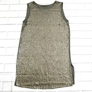 Michael Kors Gray Sequined Sleeveless Dress
